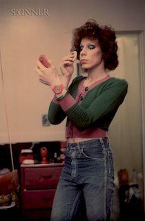 Nan Goldin (American, b. 1953)  Kenny Putting on Make Up, Boston