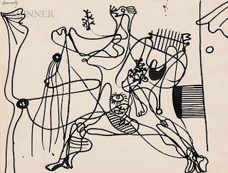 Arshile Gorky (Armenian/American, 1904-1948)  Untitled