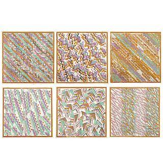 """VICENTE ROJO, Sin título, de la carpeta Lluvias de Noviembre (""""Untitled""""), 9 x 9"""" (23 x 23 cm) each. Pieces: 6"""