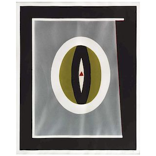 "FERNANDO GARCÍA PONCE, Óvalo (""Oval""), Signed and dated 74, Screenprint 3 / 25, 21.6 x 17.7"" (55 x 45 cm)"
