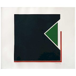 "FEDERICO SILVA, Sin título (""Untitled""), Signed and dated 1980, Screenprint 39 / 60, 15 x 15"" (38.5 x 38.5"