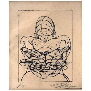 "DAVID ALFARO SIQUEIROS, Nuestra imagen actual (""Our Current Image""). Screenprint 1 / 15"