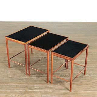 Grete Jalk, (3) hardwood nesting tables