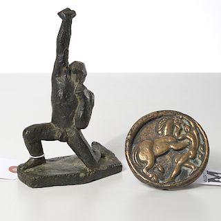 German Expressionist School, (2) bronzes