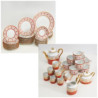 Richard Ginori Ercolano Red china set