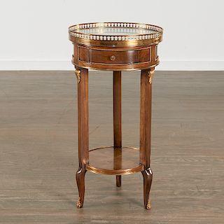 Louis XVI style two-tier small gueridon