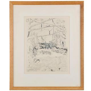 Pierre Bonnard, etching