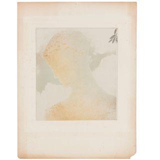 Odilon Redon (attributed), lithograph