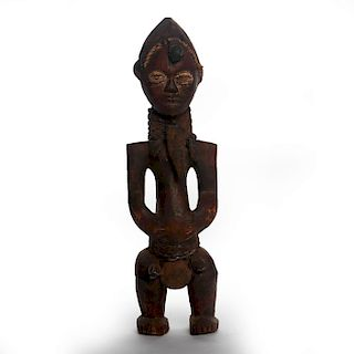 AFRICAN TRADITIONAL TRIBAL SENUFO WOODEN SCULPTURE