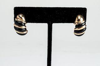 Kabana 14K Yellow Gold & Onyx Earrings