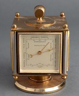 Imhof Brass Desk Clock & Weather Station