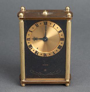 LeCoultre Brass & Enamel Travel Alarm Clock