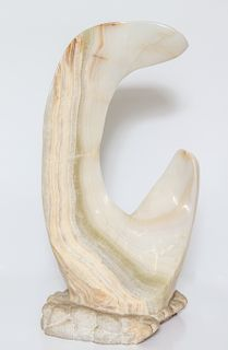 Signed Mario Guti Carved Onyx Biomorphic Sculpture