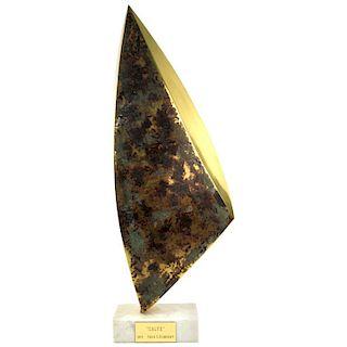 "Sasa Ulbricht ""Calyx"" Patinated Brass Sculpture"