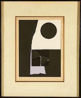 "Louise Nevelson ""Untitled"" 1973 Screenprint"