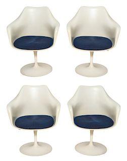 Eero Saarinen for Knoll Tulip Swivel Armchairs, 4