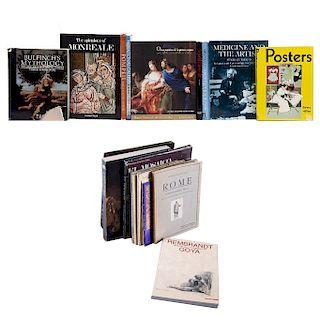 LOTE DE LIBROS DE ARTE EUROPEO.a) La Colección de Armand Hammer/ Pinturas Maestras de los Museos Estatales de Hermitage y Ruso. Pzs: 19