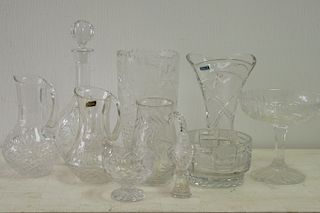 Group, 10 Pieces Cut Crystal & Glass