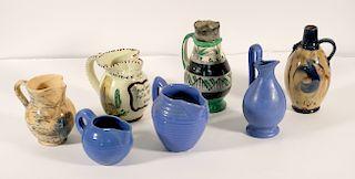 Group, Seven Vintage Pottery Pitchers & Jugs