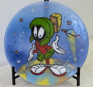 Marvin The Martian Fused Glass Platter 8/50