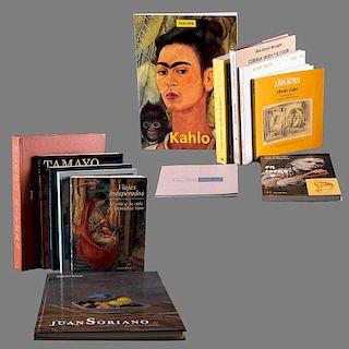 LOTE DE LIBROS DE ARTE. Rivera, Diego / García Barragán, Elisa / Chavez Morado, José / Pitol, Sergio / Kettenmann, Andrea, etc.