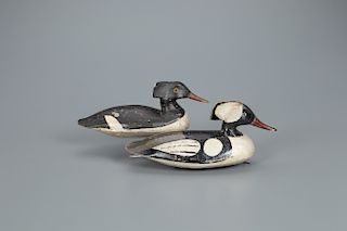 Hooded Merganser Pair, Doug Jester (1876-1961)