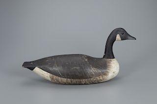 Mackey Swimming Canada Goose Decoy, Joseph W. Lincoln (1859-1938)