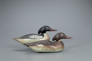 Merganser Pair, Mason Decoy Factory (1896-1924)
