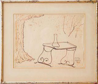 MILTON AVERY (1885-1965): GARDEN TABLE
