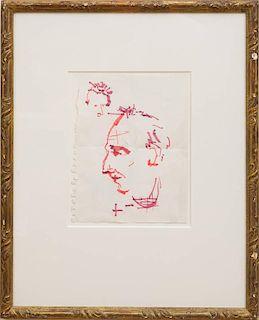 JEAN-MICHEL BASQUIAT (1960-1988): PORTRAIT OF RENÉ RICARD