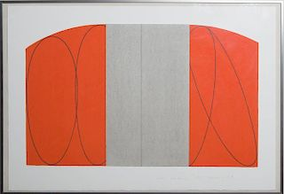ROBERT MANGOLD (b. 1937): RED/GRAY ZONE, FOR LINCOLN CENTER/LIST PRINTS AT THE BARBICAN CENTER