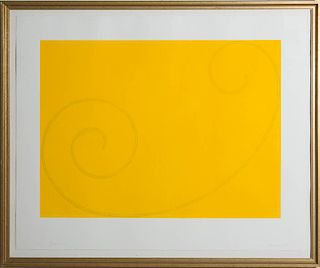 ROBERT MANGOLD (b. 1937): YELLOW CURLED FIGURE, FOR LINCOLN CENTER FESTIVAL