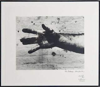 RICHARD SERRA (b. 1939): UNTITLED, FROM HAND CATCHING LEAD