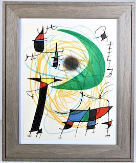 Joan Miro (1893-1983) Spain, Lithograph Attrib to