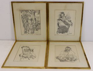 4 Seymour Rosenthal Pencil Signed & Numbered