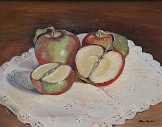 Ellen Knouse. Signed oil On Canvas Still Life.