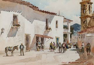 Lowell Ellsworth Smith | Street Scene, Mexico