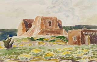 Helmuth Naumer | Adobes in Landscape