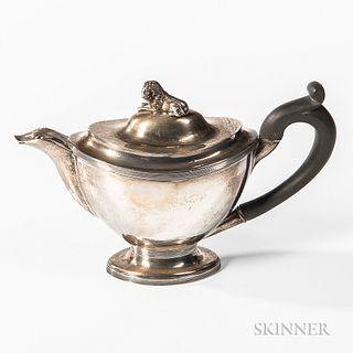 Dutch .934 Silver Teapot