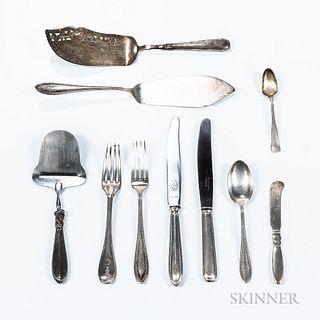 Group of Scandinavian Silver Flatware