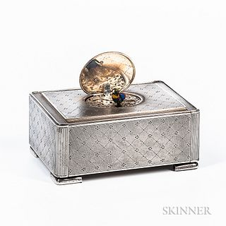 Karl Griesbaum Sterling Silver Automaton Bird Box