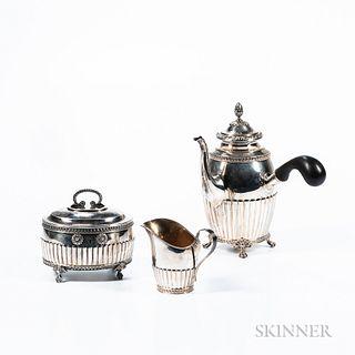 Three-piece Swedish Silver Coffee Service