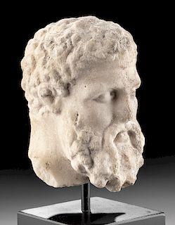 Greek Marble Head of Herakles, ex-Christie's, Art Loss