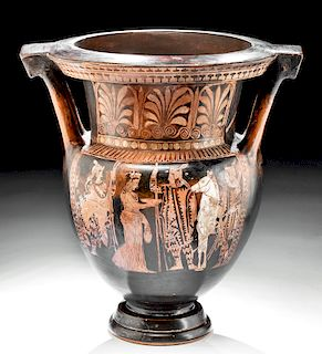 Attic Red-Figure Column Krater by Suessula Painter