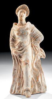 Greek Tanagra Terracotta Standing Woman