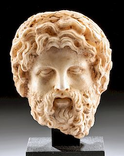 Fine Hellenistic Marble Head of a Bearded Man