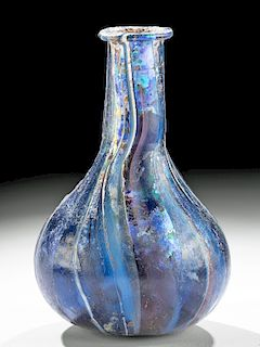 Remarkable Roman Marbled Glass Bottle