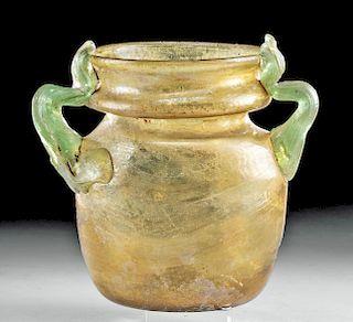 Gorgeous Roman Glass Amphora, ex-Christie's
