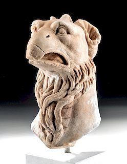 Stunning Roman Marble Griffin Head