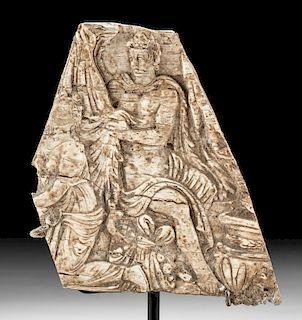 Exhibited Roman Bone Plaque - Bacchus, ex-Sotheby's